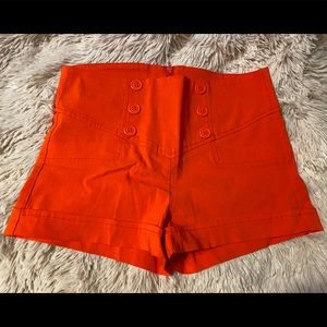 mandee Shorts - Mandee Red Sailor Button Skort, size small